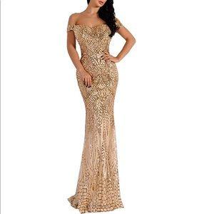Dresses & Skirts - Long sequin Floor Length Prom Bridesmaid Formal